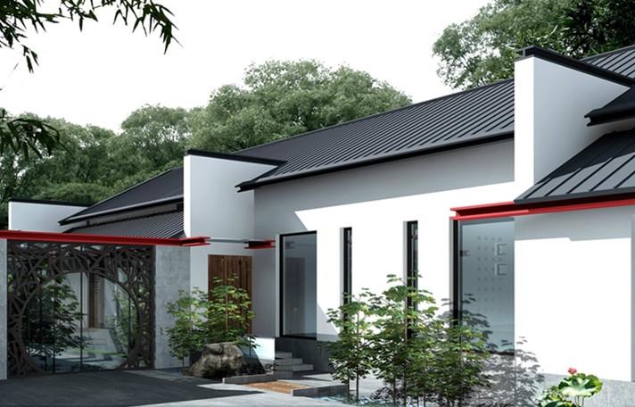 现代风格四合院别墅庭院设计